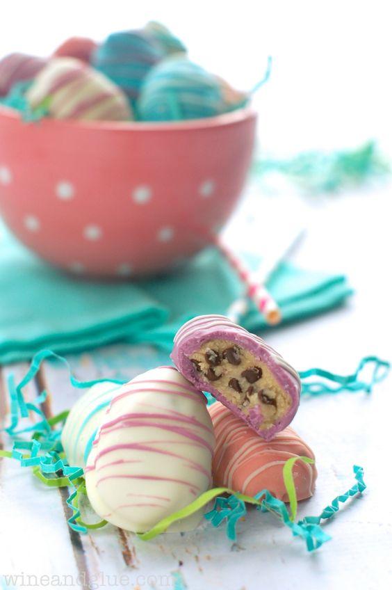 Beautiful and Delicious #Easter Egg Cookie Dough Truffles { lilluna.com }