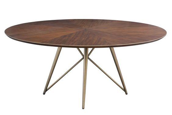 Konrad Dining Table in Carob design by Nuevo – BURKE DECOR