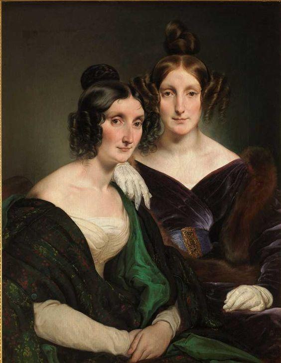 Le signore Carolina Grassi e Bianca Bignami, sorelle Gabrini - Francesco Hayez  1835