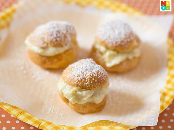 Durian Cream Puff Recipe: Cupcake Recipes, Cream Puffs, Dessert Recipes, Cream Puff Recipe, Bakes Sweet