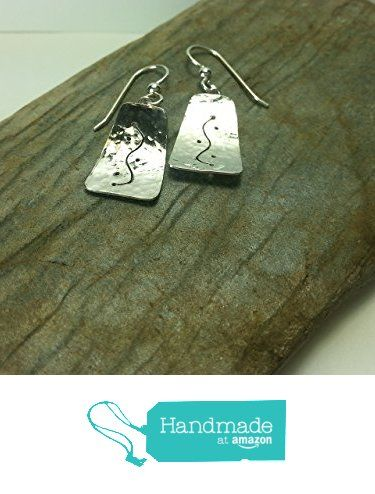 Handcrafted one of a kind sterling earrings. from Silver Mountain Jewelry http://www.amazon.com/dp/B01CZAJXGO/ref=hnd_sw_r_pi_dp_mC35wb002MT3S #handmadeatamazon