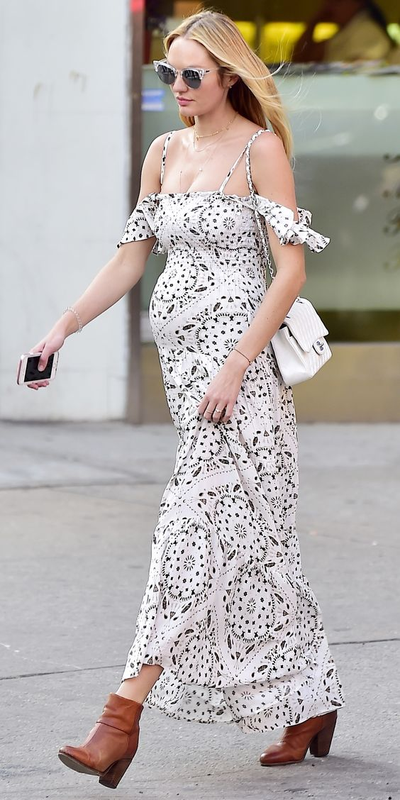 The Best Celebrity Maternity Street Style Looks - Candice Swanepoel, May 2016 from <a href=&quot;http://InStyle.com&quot; rel=&quot;nofollow&quot; target=&quot;_blank&quot;>InStyle.com</a>: