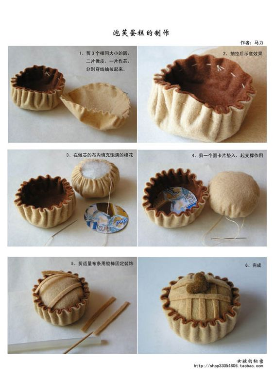 Pictorial instructions to make a felt pie :-)