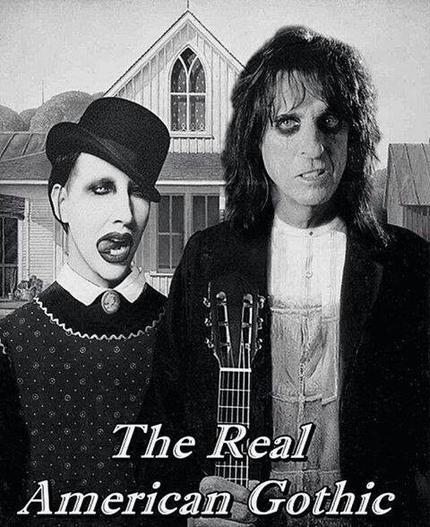 Alice Cooper & Marilyn Manson American Gothic. ❣Julianne McPeters❣ no pin limits