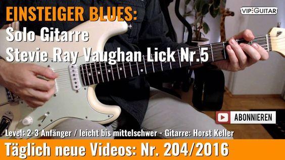 ✪ EINSTEIGER BLUES ►Stevie Ray Vaughan Lick Nr.5