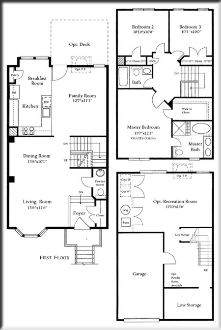 the cascades adams townhouse floor plans rec room could be officeguest room