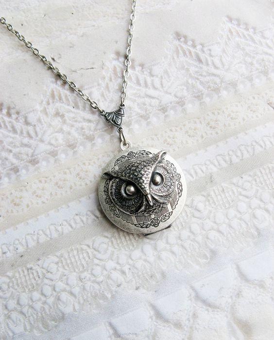 King Owlie Locket by birdzNbeez on Etsy. $29.00 USD, via Etsy.