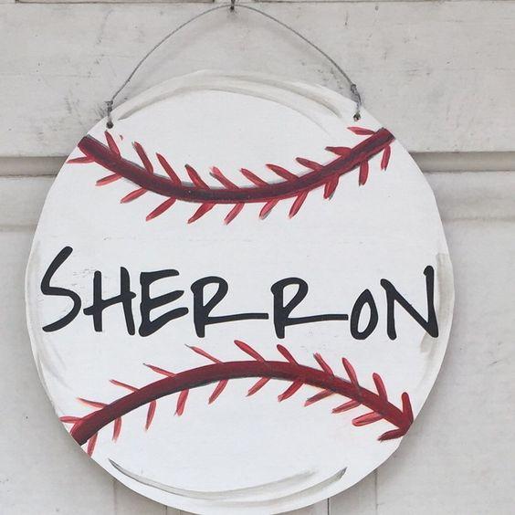 Baseball door hanger!