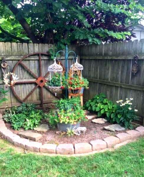 28 Beautiful Corner Garden Ideas And Designs Corner Landscaping Backyard Landscaping Designs Small Backyard Landscaping