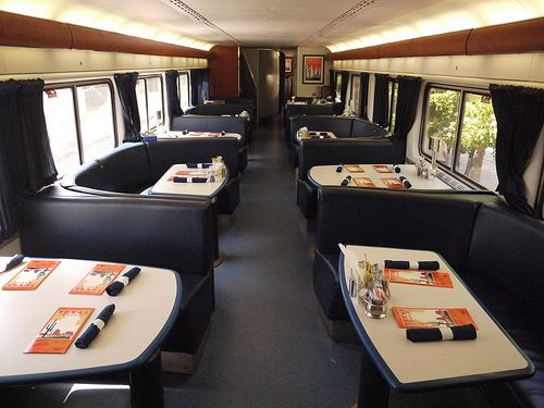 the dining car on the texas eagle which travels between chicago and la first train ride on. Black Bedroom Furniture Sets. Home Design Ideas