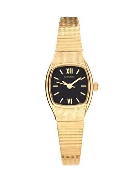 Sekonda Black And Gold Bracelet Watch