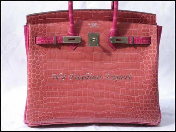 hermes birkin crocodile price - Special Order Birkin Size: 35cm Colors: Rose Indien/Fuschia ...
