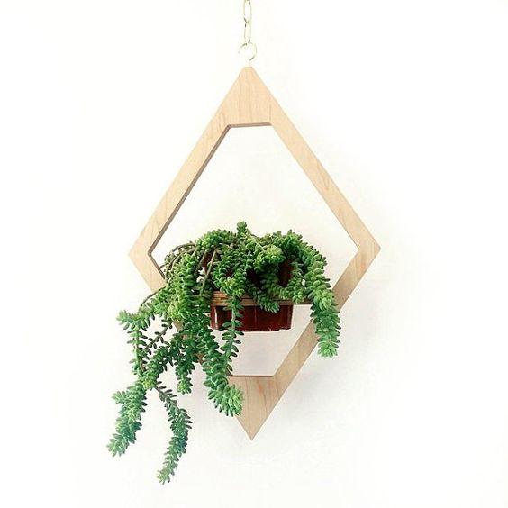moderno colgante maceta boho chic siglo planta stand plantador de madera