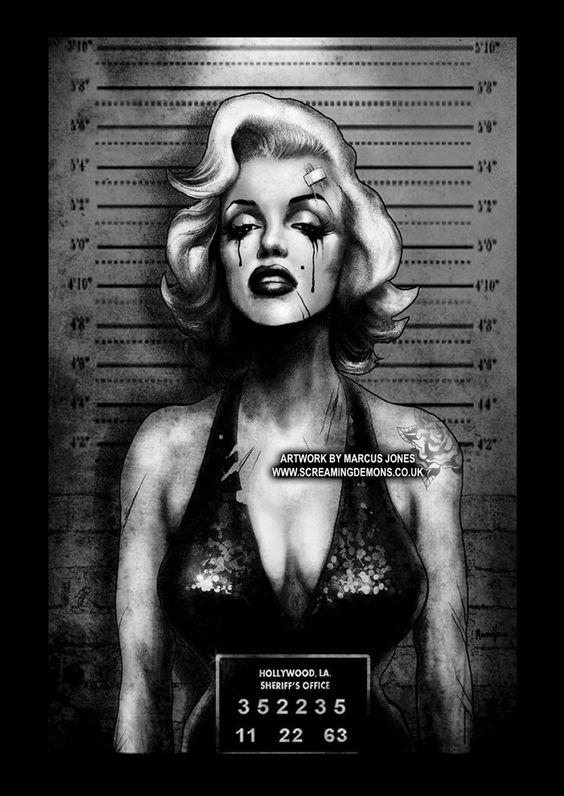 Marilyn  Mugshot by Marcus Jones