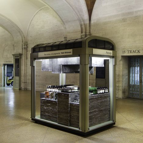 Quiosque da Aesop na Estação Central de Nova York
