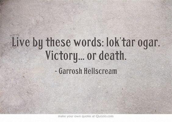 Hatred. Horde. Heroism. Garrosh Hellscream.: