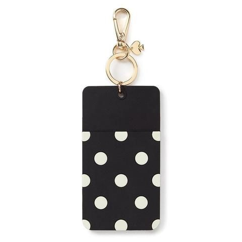 Kate Spade - ID Clip - Black Dot - Why Hello There