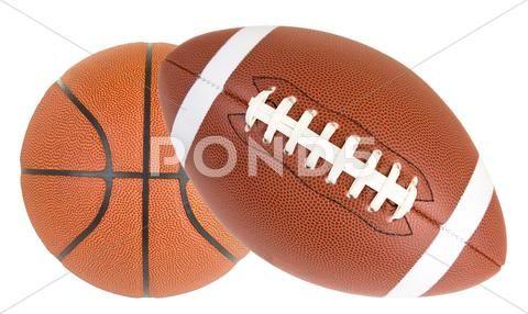 Football And Basketball Isolated Stock Photos Ad Basketball Football Isolated Photos Football And Basketball Football Basketball