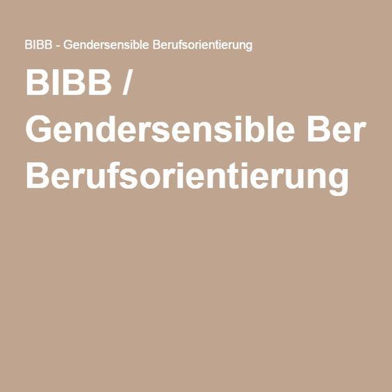 BIBB / Gendersensible Berufsorientierung