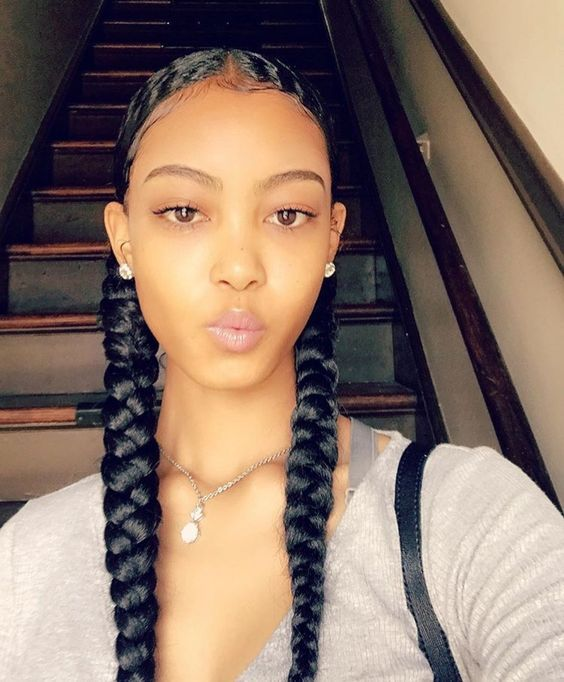 2 Goddess Braids Short Natural Hair Styles Lemonade Braids