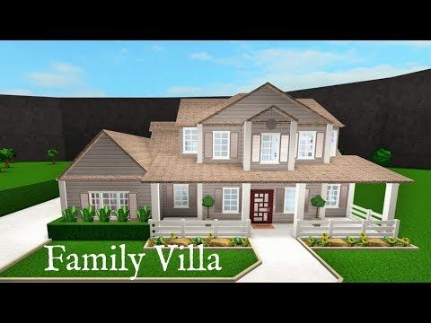 Roblox Bloxburg Two Story Family Villa Speed Build Inexpensive House Plans Modern Family House Building A House