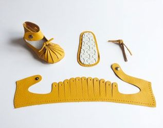 Handcrafted baby shoe kits.:
