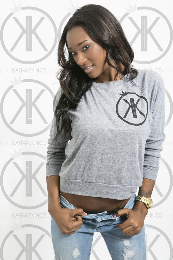 Our new logo light sweater perfect for the Fall and its breezy weather!     www.kanvaskings.com