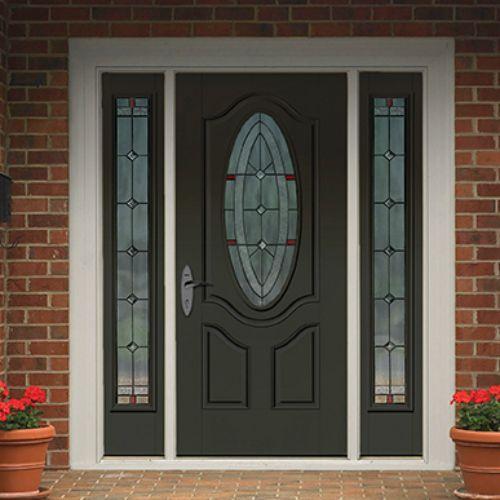 4 Deluxe Oval Lite 2 Panel Door