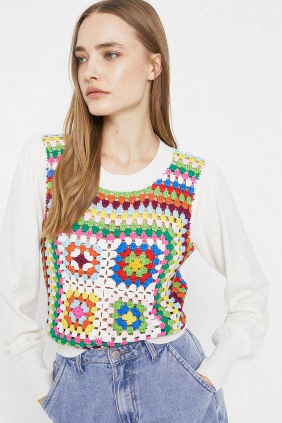Crochet Front Jumper Warehouse