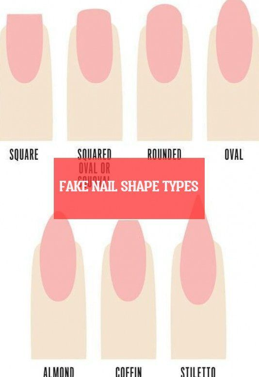 Fake Nail Shape Types With Images Fake Nails Shape Nail