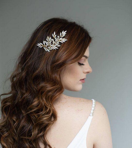 Bridal Hair Comb Wedding Hair Piece White Retro Hair Comb Vintage Style Headpiece Gold Hair Comb Wh Gold Hair Comb Gold Hair Comb Wedding Flower Hair Comb