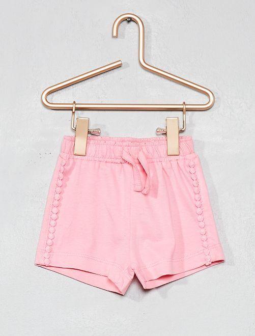 Pantalon Corto Con Borlas Rosa Bebe Nina Kiabi Pantalones Cortos De Nino Moda De Bebes Nina Ropa Para Ninas