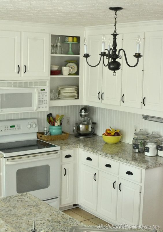 Behr white cabinet kitchen and beads on pinterest for Behr paint for kitchen cabinets