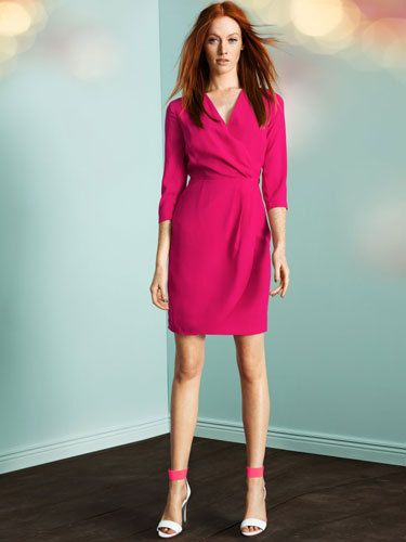 H&M Pink Wrap Dress - smart- in a bold colour. Perfect for family ...