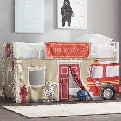 Zoomie Kids Woodlynne Fire Department Curtain Set For Junior Loft