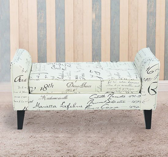Furniture Armed Scripted Bench Seat Cushions Home Furniture Upholstered New Home Garden Mod Ng