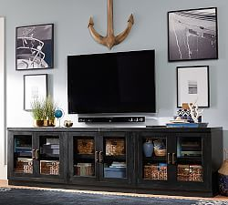 tv entertainment centers media furniture media storage pottery barn game room pinterest. Black Bedroom Furniture Sets. Home Design Ideas