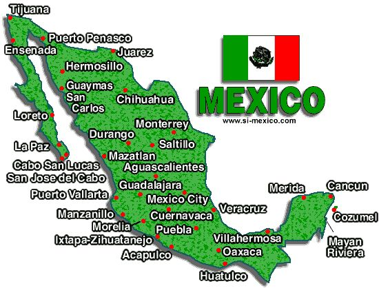 Map of Mexico Resorts Mexico Resorts Mexico Hotels – Map of Mexico Acapulco