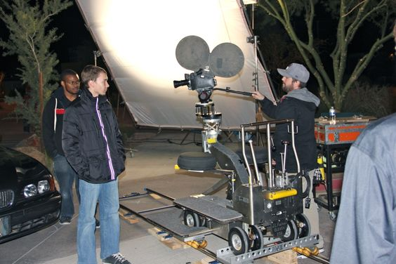Film School at SCC - Open House 2013. Open House 2013. Car demo - demonstrating JL Fisher dolly, which is an industry standard dolly.