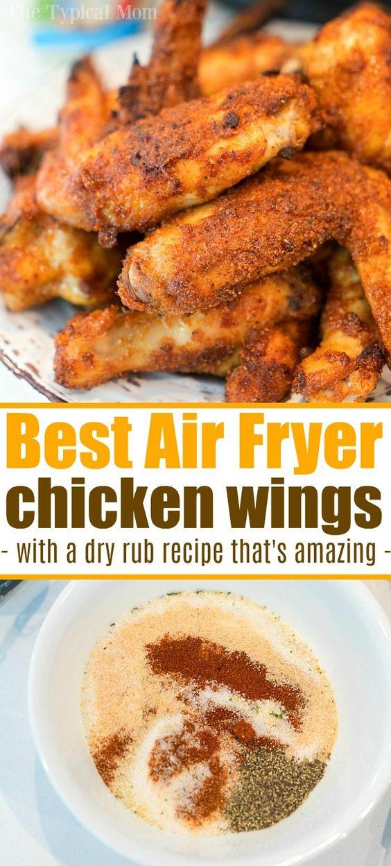 Dry Rub Air Fryer Chicken Wings