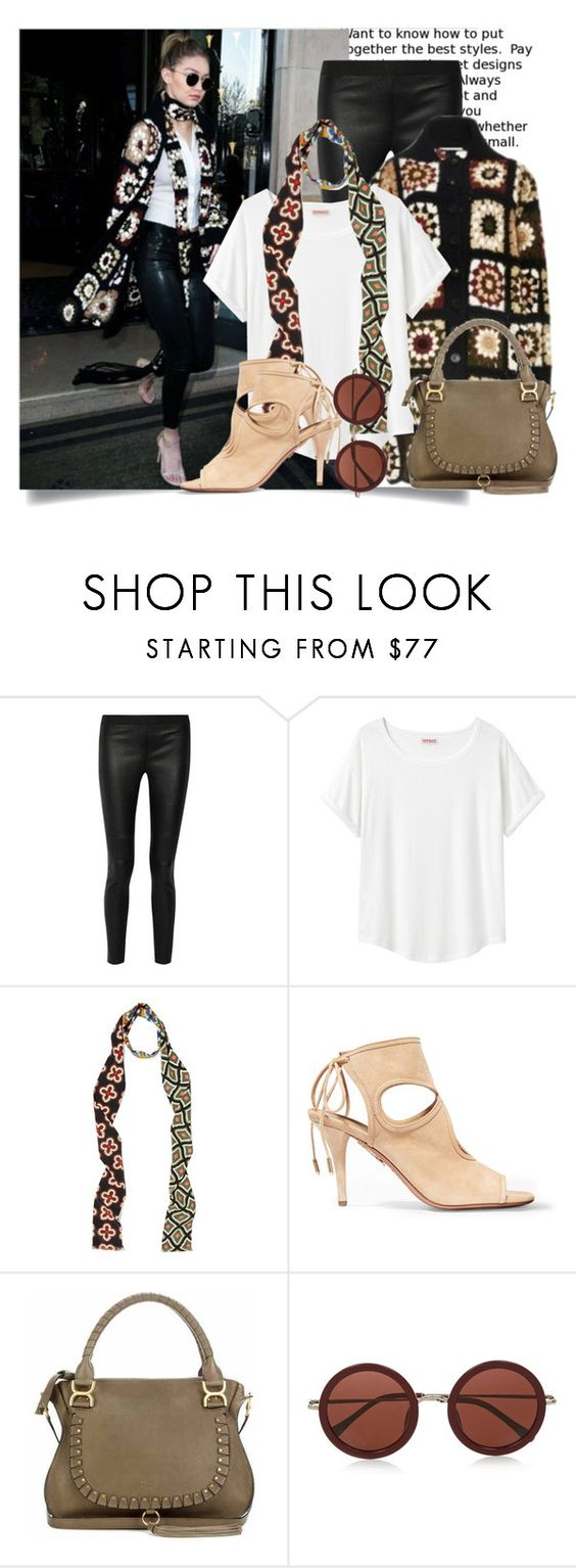 """""""Gigi's White T-Shirt Style..."""" by hattie4palmerstone ❤ liked on Polyvore featuring 10 Crosby Derek Lam, Rosetta Getty, Organic by John Patrick, Gucci, Aquazzura, Chloé and The Row"""