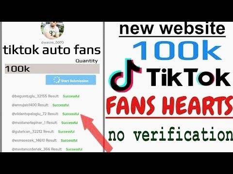 100k Tik Tok Fans And Hearts Without Any Verification Tool Hacks Tik Tok Tok