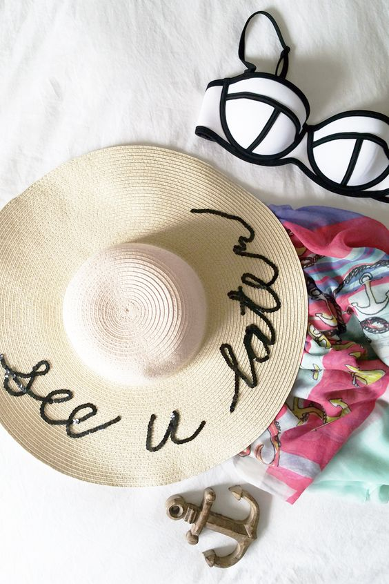 DIY :: Sequins Beach Hat with Joe Fresh: