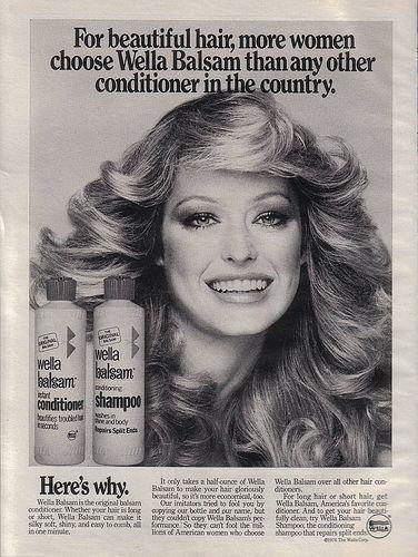 Wella Balsam shampoo and Farrah's hair