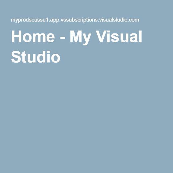 Home - My Visual Studio