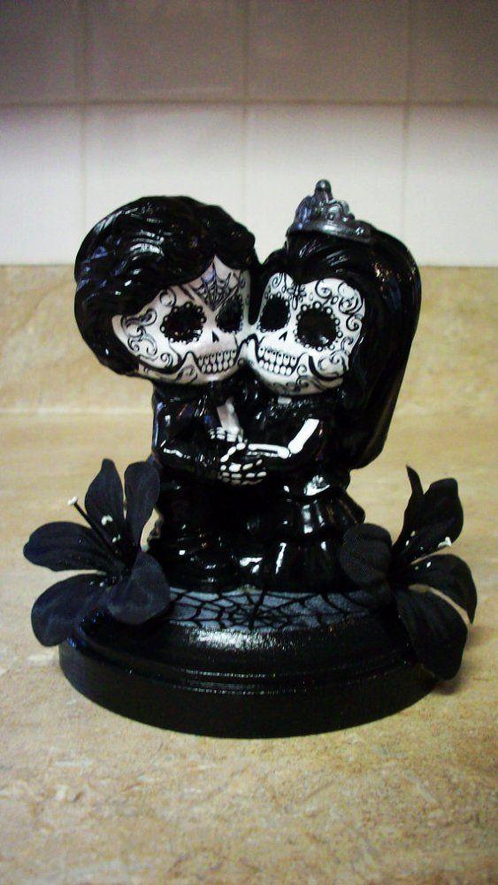 Day of the Dead wedding cake topper figurine centerpiece Dia de ...