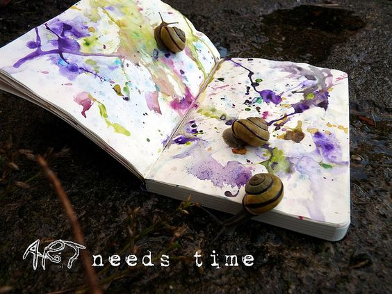 Art needs time by LaWendula, via Flickr