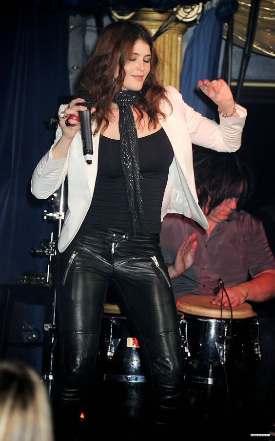 Gemma Arterton in leather pants