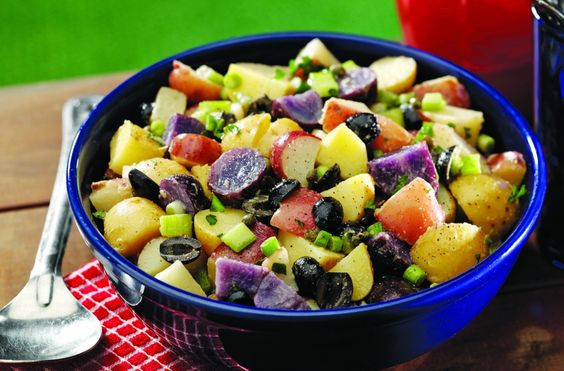 White and Blue Potato Salad delish! Ingredients 1/2 pound red potatoes ...