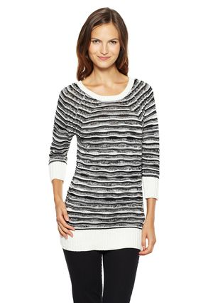 On ideeli: JOSEPH A Striped Sweater with Ribbed Arms